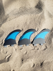Image 4 - Fcs g5 barbatanas de fibra de vidro verde sup barbatanas de prancha de surf em surf acessórios