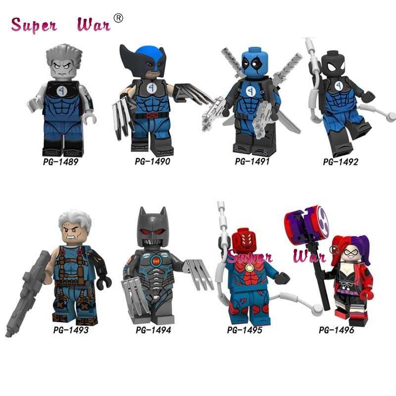 50pcs Marvel Movie Colossus Wolverine Deadpool Cable Spiderman Spider-Man Far From Home Mysterio building block for children toy