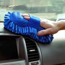 Home Car Hand Cleaning Tools Soft Towel Microfiber Chenille Washing Gloves Coral Fleece Auto