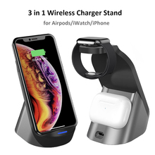 3 in 1 Wireless Chargers Dock Station For iPhone 11 12 pro Max SE2 XR XS Samsung Note 20 10 9 8 Fast Charging for Airpods iWatch