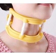 Regolabile in silicone collare collo quadro allungamento della trazione del collo Massager vertebre di massaggio supporto per rilassarsi