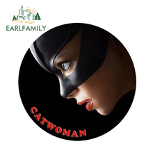 EARLFAMILY 13cm x 3D Car Stickers Classic Cat Women Super Hero Window Bumper Decal Rear Windshield Styling Sticker