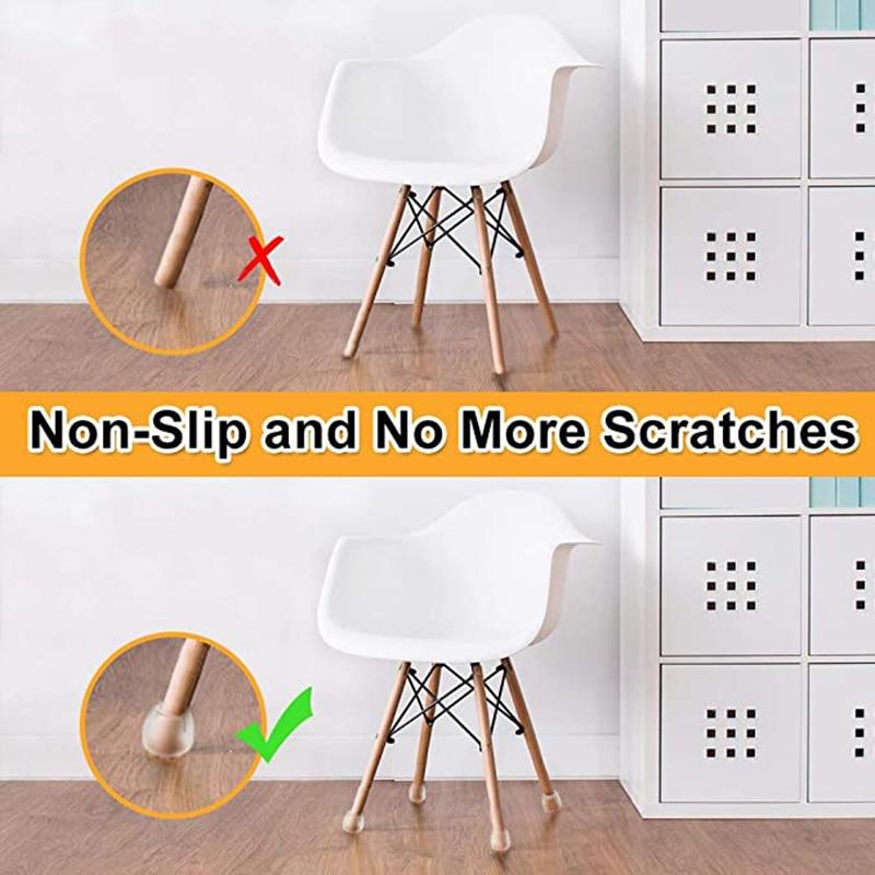 Модернизированная мебель, 24 шт., фетровая подкладка, Нескользящие колпачки для ножек стола, стула, защита для пола, настольная лампа-4
