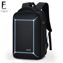 FRN Three-dimensional TSA Lock Anti theft Men 15.6 inch Laptop Backpack USB Charging Business Waterproof Casual Travel
