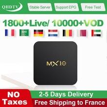 MX10 IPTV France QHDTV Subscription Arabic France Tunisa Belgium IP TV Code 4G 64G Android 9.0 4K IPTV Netherlands French Box mx10 arabic france iptv subscription 4 64g android 9 0 rk3328 qhdtv 1 year iptv netherlands belgium italian algeria ip tv box