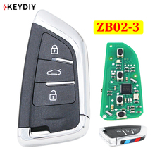 Universal ZB02-3 ZB02 KD Smart Key Remote for KD-X2 KD900 URG200 Mini KD Car Key Remote Replacement Fit More than 2000 Models