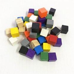 500 pçs/pçs/set cubos de madeira 10mm blocos dados em branco canto quadrado colorido jogos tabuleiro cubos para peças do jogo educação precoce