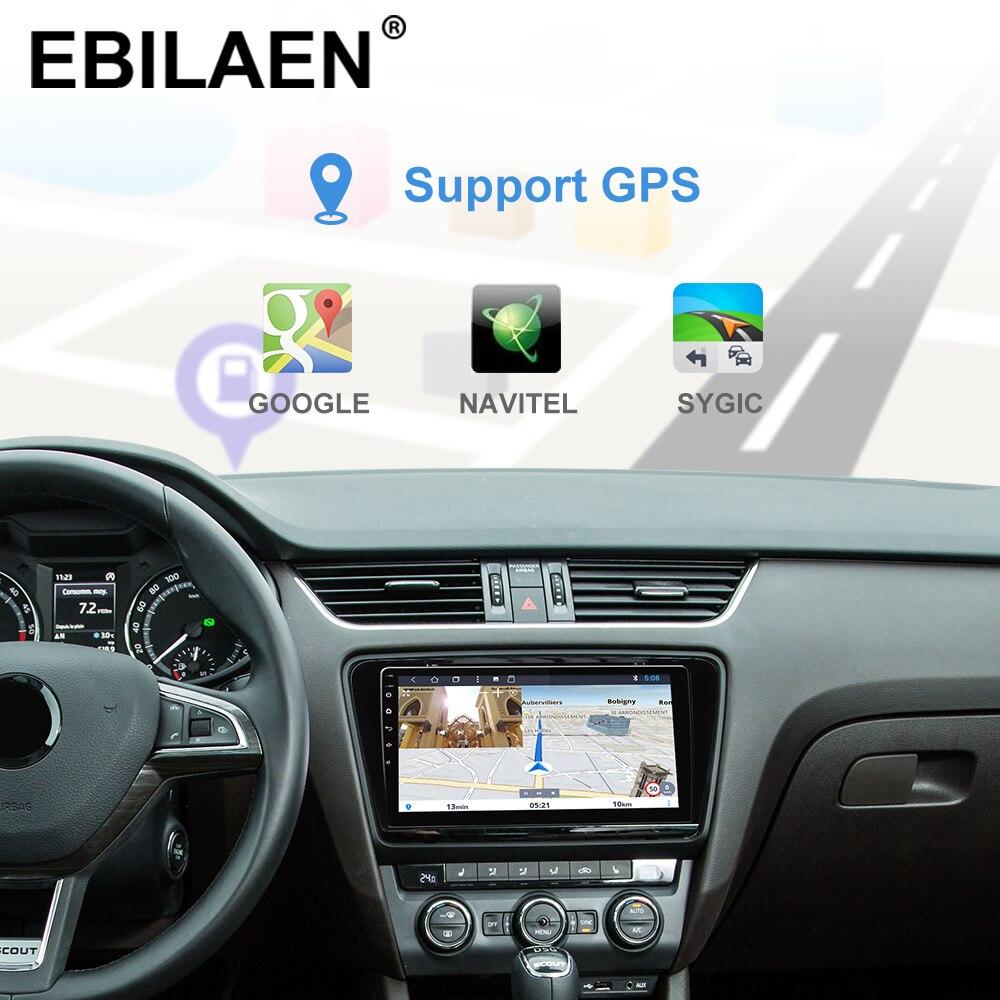 Reprodutor dos multimédios do carro de ebilaen dvd para a câmera traseira de gps da navegação do rádio 2din android 2014 de skoda octavia a7 iii 3 2018 9.0 - 4