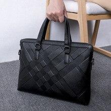 Zipper Luxury Men Shoulder Bag Fashion Large Capacity Minimalist Shoulder Bag Genuine Leather Bolsos Hombre Mens Bag DE50NDJ