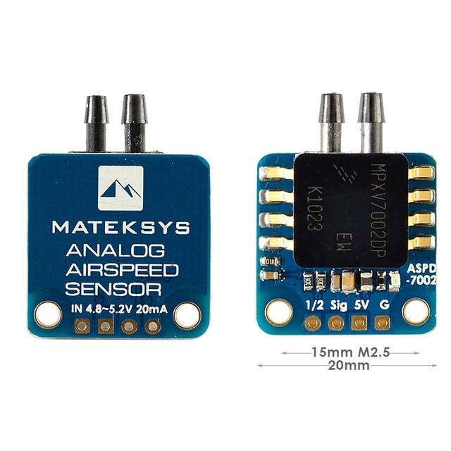 Matek ASPD 7002 אנלוגי חיישן מהירות טיסה עבור RC FPV מירוץ פריסטייל F405 WING/F405 CTR/F405 STD/F722 STD/F722 WING/f765 WING