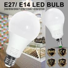 Luzes do bulbo do diodo emissor de luz 220v bulbo do ponto e14 conduziu a lâmpada luz interna 3w 6 9 12 15 18 20w conduziu e27 vela foco lâmpada spotlight decoração da sua casa
