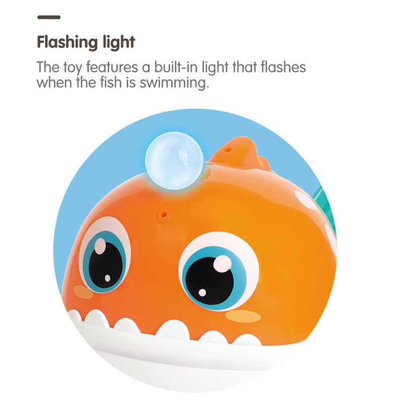 HOLA 8103 детские игрушки для купания акулы для малышей 0-12 месяцев, детские игрушки с музыкой и светом для ванной, игрушки для мальчиков