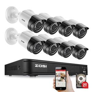 Image 1 - Zosi 8CH H.265 1080P Video Surveillance Systeem Ahd Nightvision Waterdichte Bullet Hdd Beveiligingscamera S Dvr Cctv Kit
