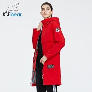 Image 3 - جديد لعام 2020 من ICEbear معطف طويل للنساء جاكيت عالي الجودة للنساء ملابس غير رسمية للنساء ماركة ملابس نسائية GWC20727I