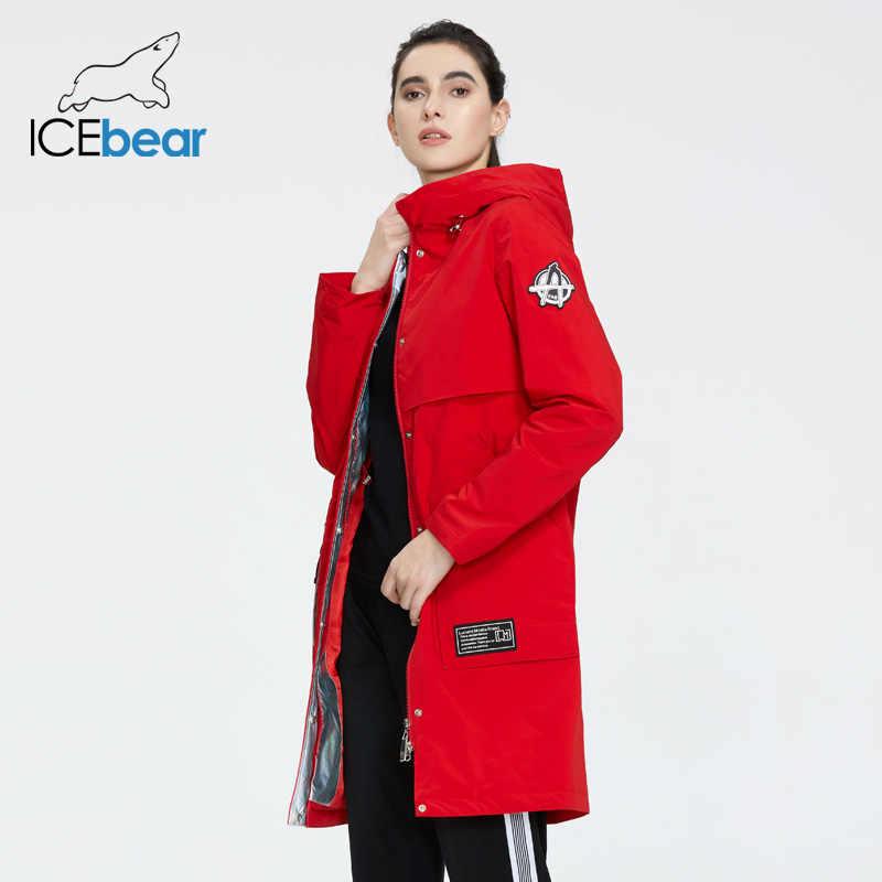 جديد لعام 2020 من ICEbear معطف طويل للنساء جاكيت عالي الجودة معاطف نسائية غير رسمية على الموضة ملابس نسائية ماركة ملابس نسائية GWC20727I