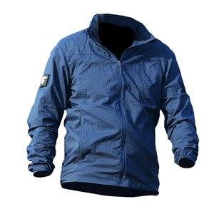 Image 4 - Jaqueta masculina militar, nova jaqueta de verão de 2020, à prova d água, de secagem rápida, tática, com capuz, protetor solar