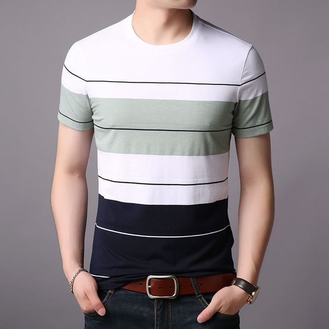 Summer Men 2020 Tshirt New Casual Prints Letter Boys Solid Color Round Neck Tops Tees