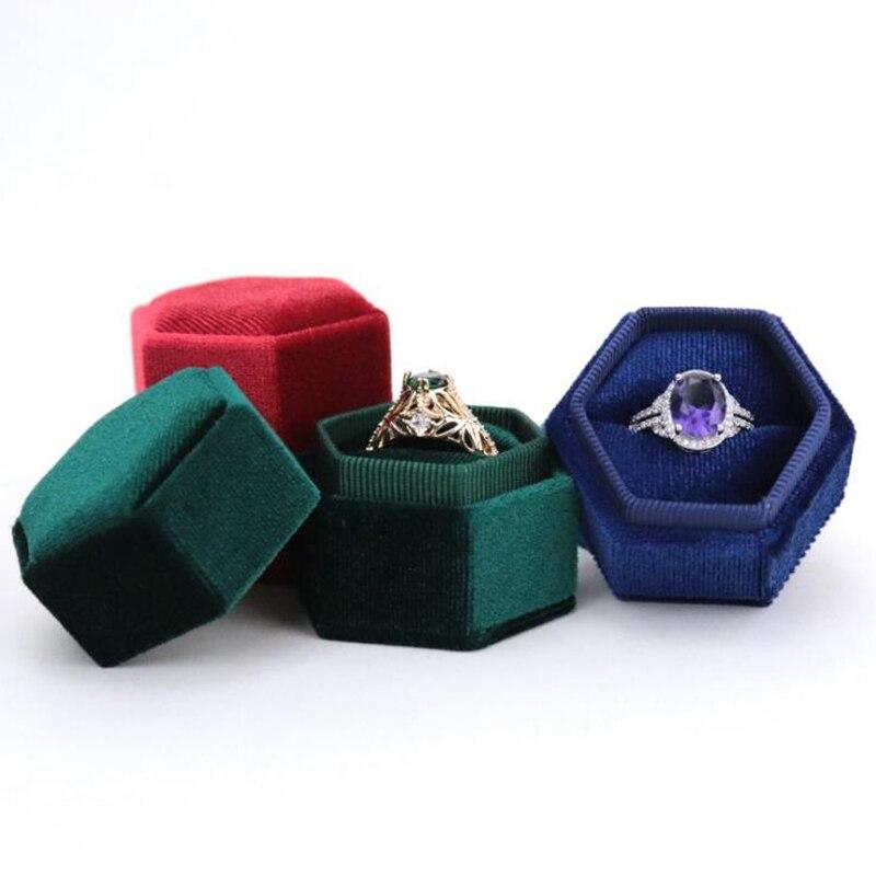 per fidanzamento o matrimonio B bianco scatole anello ECMQS collana Scatola per gioielli con LED illuminata