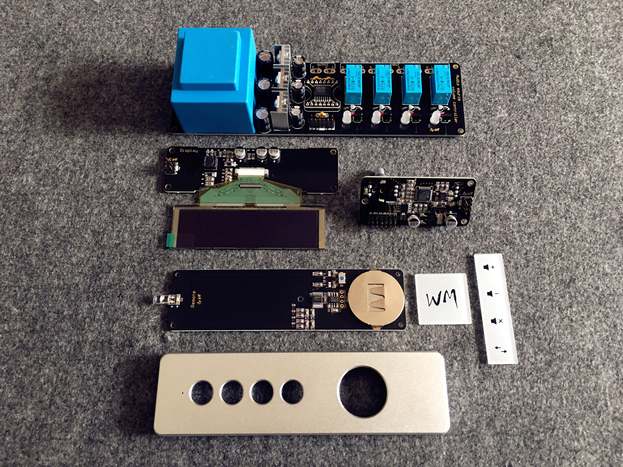 4 Channel Audio Volume Remote Control Kit