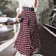 ZANZEA Women Vintage High Waist Polka Dot Skirts Summer Bohemian Long Skirts Casual Beach Party Vestido Faldas Saia Femme Jupe 7