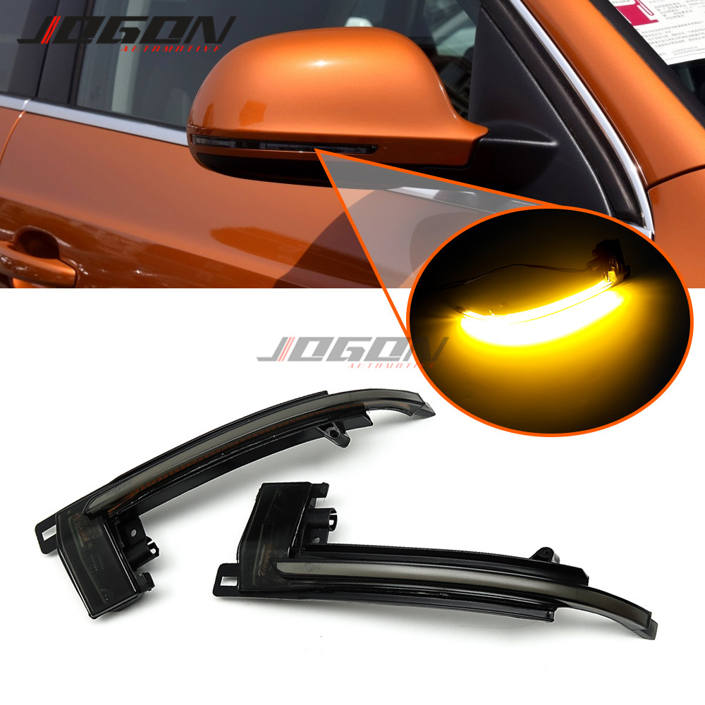 Dynamic Turn Signal LED Side Mirror Indicator Blinker For <font><b>Audi</b></font> A4 S4 A5 S5 B8 Prefacelift Q3 RS A6 S6 C6 <font><b>A8</b></font> A3 S3 Car Lights image
