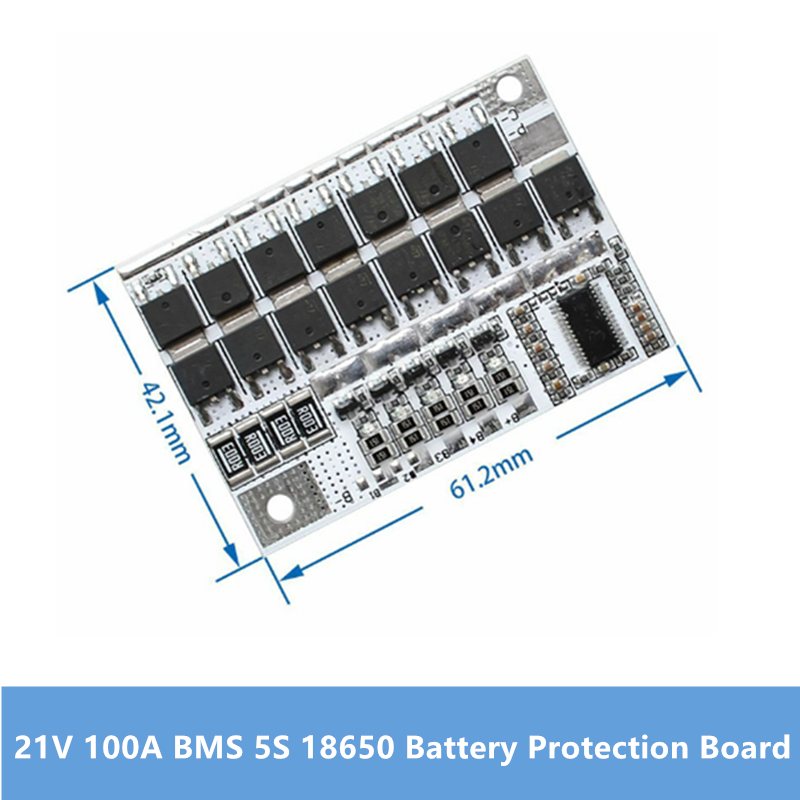 21V 100A BMS 5S 18650 Li ion Battery Protection Circuit Board Charger Balancer 5S BMS PCM