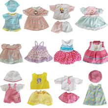 Doll Clothes For 13-14 Inch Girls Doll Dress For 35 Cm Born Baby Umbrella Mirror Dolls Accessories 12 Pcs Set Outfit Kids Toys