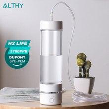 H2Life la bouteille de générateur d'eau hydrogène 5th génération Max 3700ppb DuPont SPE + PEM double chambre avec kit d'absorption d'hydrogène
