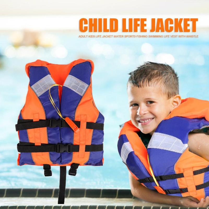 Hot Sale Life Vest 210D Polyester Adult Kids Life Jacket Water Sports Surfing Fishing Swimming Life Vest With Whistle