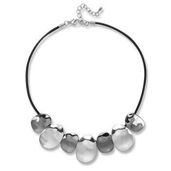 Женские кожаные чокеры, ожерелье, винтажные массивные ожерелья, $ кулоны, женские модные ювелирные изделия, женская бижутерия, LG553