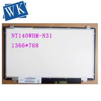 "For Boe NT140WHM-N31 NT140WHM N31 LED Screen LCD Display Matrix for Laptop 14.0"" HD 1366X768 30Pins  Replacement"
