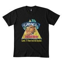 Vtg 1988 c-amel c-igarettes bolso clássico t camisa 173dmn cuello redondo sudadera negro