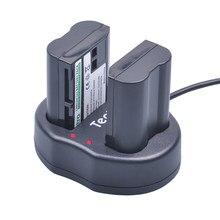 2 baterías para pc para Nikon EN-EL15 ENEL15 en el15 en-el15a + cargador Dual para Nikon d7000 d610 d7100 D850 D600 D810 D750 D7500