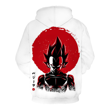 2020New Design3D Men's Guard clothes and hoodies Prince Vegeta Under the Sun Dragon Ball Awesome Artwork Drawing 2