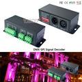 Led controlador DMX Decoder LT-DMX-1809; DMX-SPI conversor de sinal, suporte TM1804/TM1809/WS2811/WS2812B etc