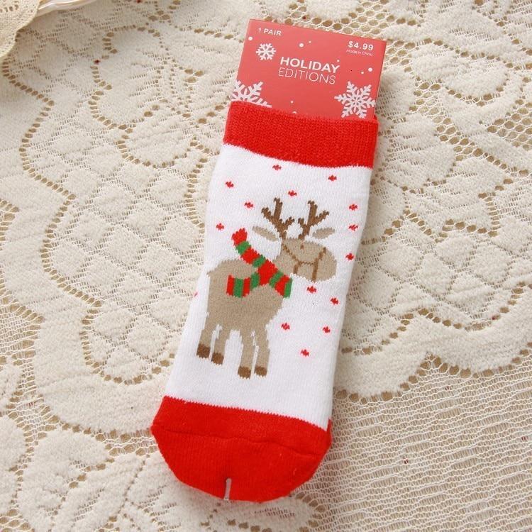 2021 Kids Socks Cute Christmas Sock Santa Deer Children Socks Newborn Meias Infantil Toddler Boys Girls Sock Xmas Kid Clothes 5