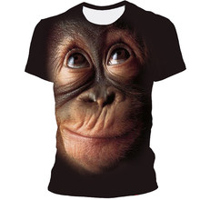 2021 Men's New 3D Orangutan Print T-shirt Summer O-neck Casual Fashion Short Sleeve T-shirt Men Blusas Top