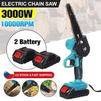 6 zoll 3000W Elektrische Kettensäge Cordless Rebschnitt Kettensäge Garten Baum Protokollierung Holzbearbeitung Power Tool für Makiita 18V batterie