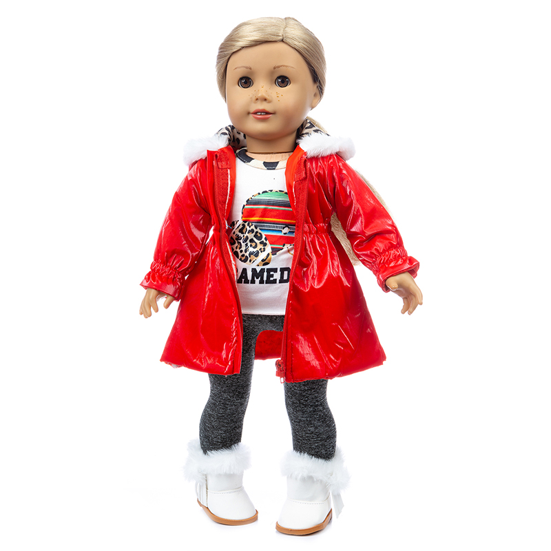 18 Inch American Generation Girl Doll Clothes Winter Ski Jacket Baby New Born Doll Clothes Coat Trousers