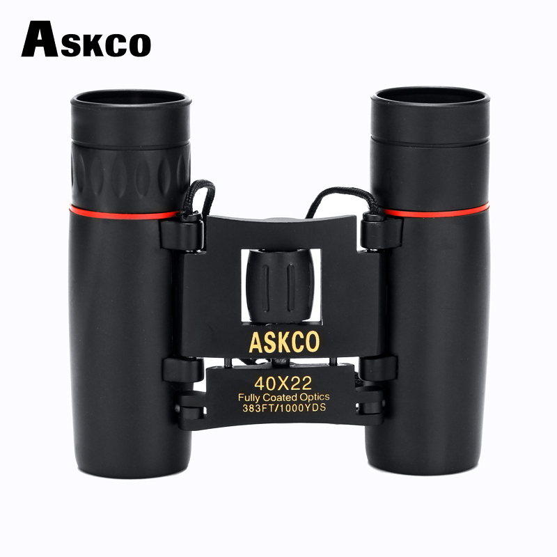 High Power 40x22 Binoculars HD Zoom Pocket Folded Tourism Telescope Concert LLL Night Vision High Clear For Hunting Camping