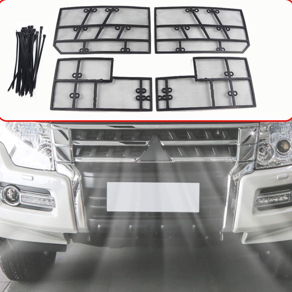 For <font><b>Mitsubishi</b></font> <font><b>Pajero</b></font> V93 V97 Car Front Insect Grill Net Insect Screening Protective Mesh Cover <font><b>2012</b></font>~2018 Accessoies image