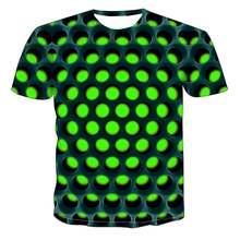 Мужская летняя футболка 2020 с геометрическим 3d стереоскопическим