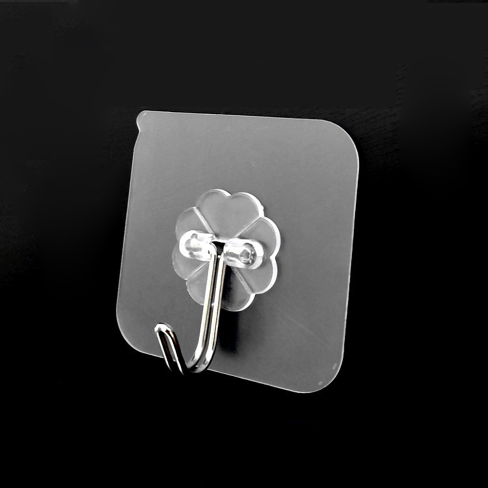 HOMIE Stainless Steel Wall Strong Suction Cup Hook Hangers Vacuum Sucker 6cm*6cm Removable Bathroom Kitchen Strong Wall Hook