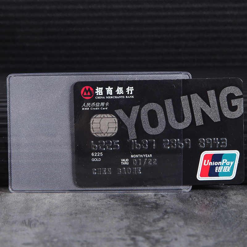 10 pçs/lote 60*93mm Transparente Protetores de Cartão ID Titular do Cartão de Carteiras Bolsa de Negócios Cartão de Crédito Protector Capa Bags