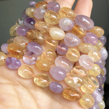8-10mm Natural Irregular Yellow Citrines Quartz Crystal Stone Beads Loose Spacer Beads For Jewelry Making DIY Bracelet 15Inches