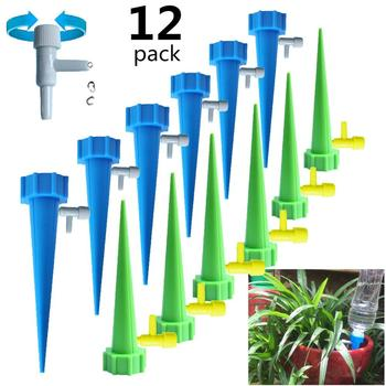 6/12/18PCS Automatic Irrigation Watering Spike for Plants Flower Indoor Household Auto Drip Irrigation Watering System Waterer 12 18pcs automatic irrigation watering spike indoor household auto drip irrigation watering system set garden waterer for plants