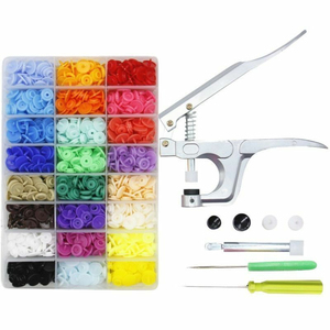 DIY Sewing Tools 360PCS Boxed Snap Button T5 Plastic Snap Button and Hand Pressure Pliers Set for Sewing Tools and Accessories