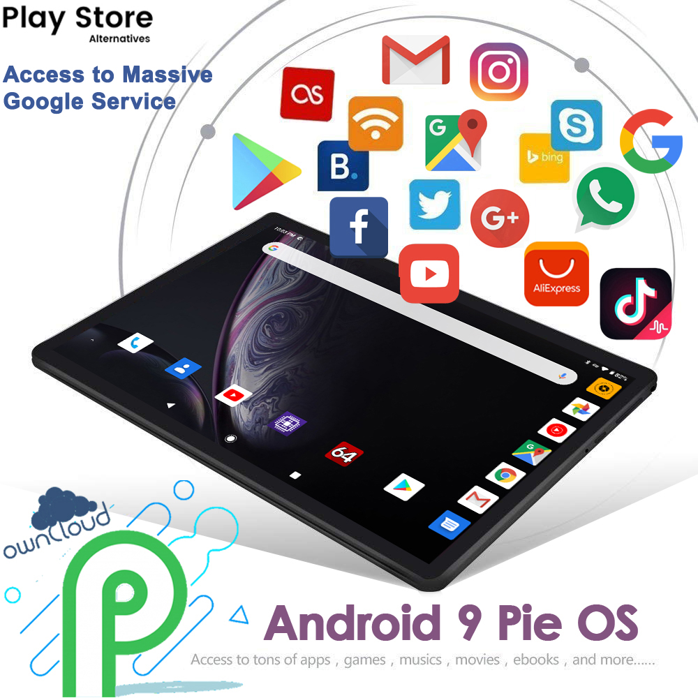 Hot New Ultra Slim 10 inch Tablet PC Octa Core 4GB RAM 32GB ROM 2.5D Tempered Glass 5.0M Camera Android 9.0 Tablet 10.1 WiFi GPS 3