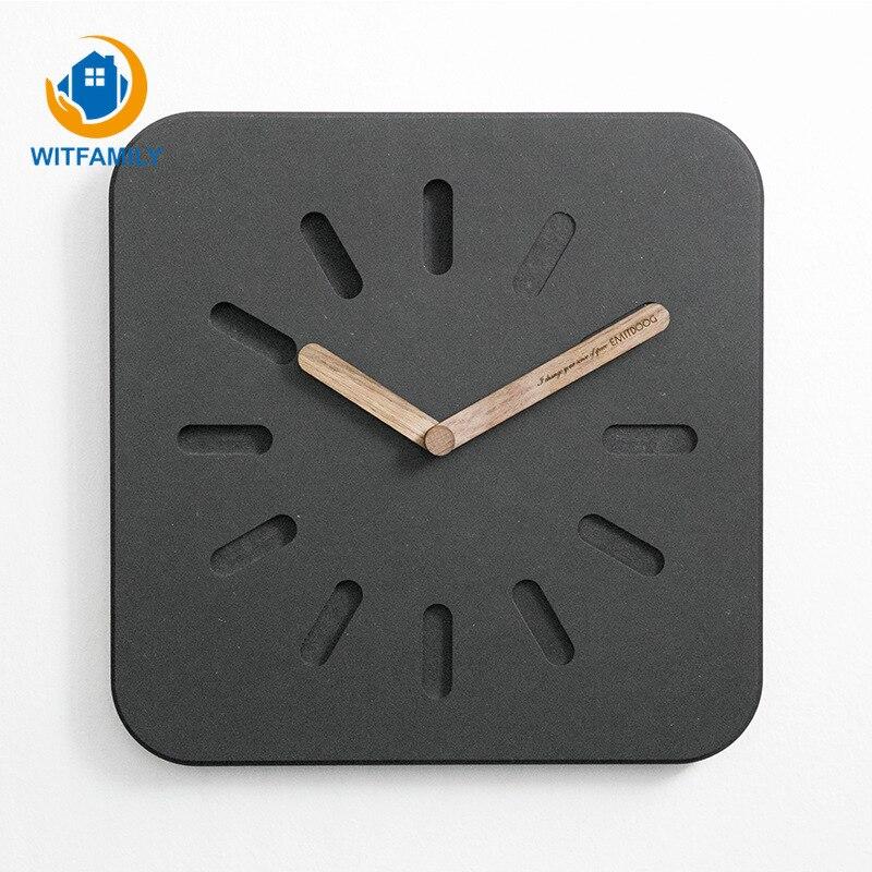 Mode créative horloge murale européenne moderne minimaliste tenture murale salon horloge maison horloge atmosphérique muet horloge