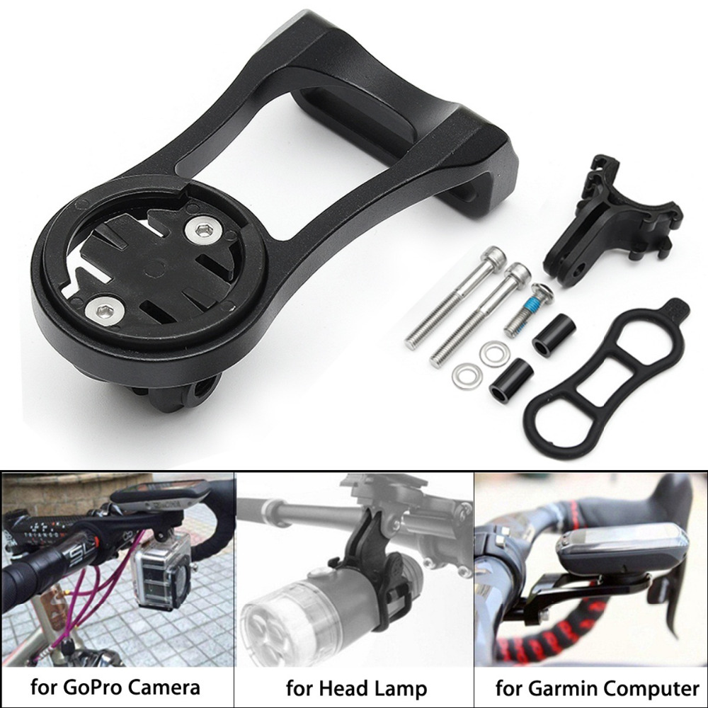 Bicycle <font><b>Computer</b></font> Mount Holder <font><b>GPS</b></font> <font><b>Bike</b></font> Speedometer Extension Holder Bracket <font><b>With</b></font> Gopro Camera Adapter For GARMIN Bryton CATEYE image